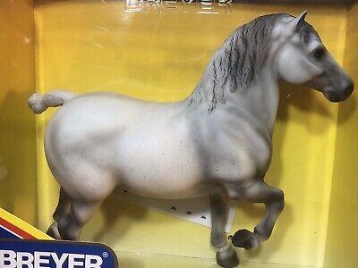Breyer Blackhome Grandeur Lyn Percheron Stallion Horse #1206 Gray 2002 NIB