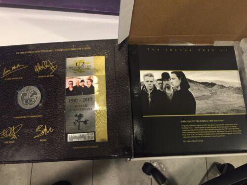 U2 Joshua Tree Limited Edition VIP Commerative Book with Harmonica