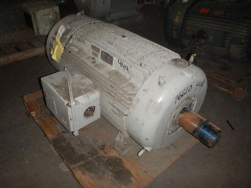 150 Hp Siemens Electric Motor, 900 Rpm, 449tz Frame, Tefc, 460 V, 1.15 S.f.