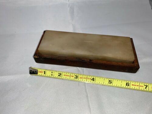 "Vintage Norton Large 5 7/8"" x 1 7/8"" x 7/8"" thick Arkansas Hard Oilstone"