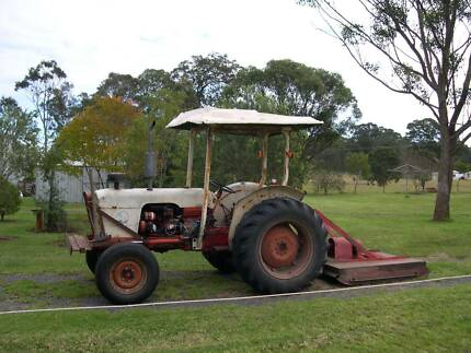 David Brown Tractor with slasher Nabiac Great Lakes Area Preview