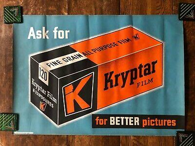 Original 1947 Advertising Poster KRYPTAR FILM  38 x 29 -