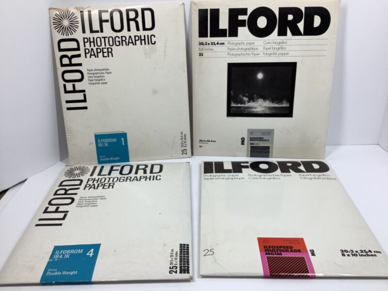 Ilford Photographic Paper Mixed Lot Of 4 Packs