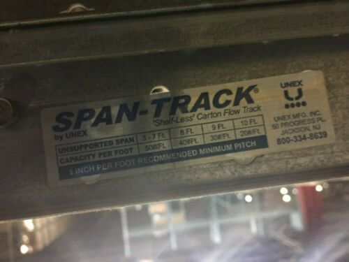"Unex Span-Track 9.5"" x 113.75"" with hangers (LOT of 198 Units)"