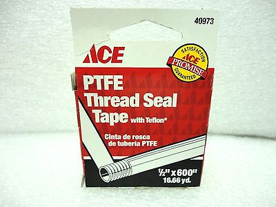 New Ace Ptfe Thread Seal Tape 40973 12 X 600