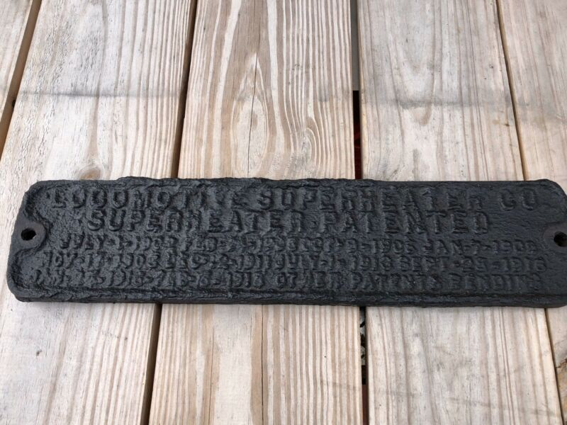 Superheater Steam Engine Builder  Plate From Railroad Shed In Missouri