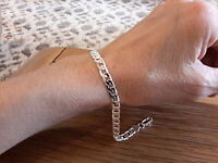 Brand Silver Plated 6mm Curb Bracelet With Gift Box -  - ebay.co.uk