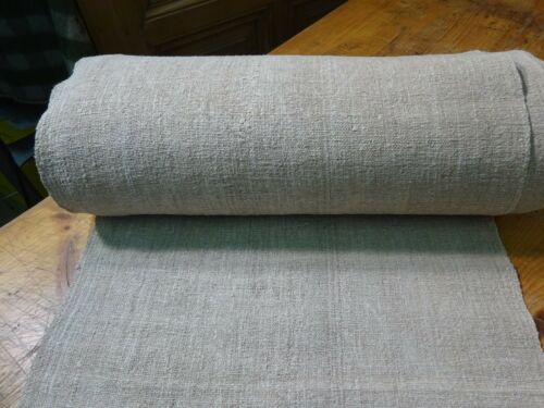A Homespun Linen Hemp/Flax Yardage  18 Yards x 20