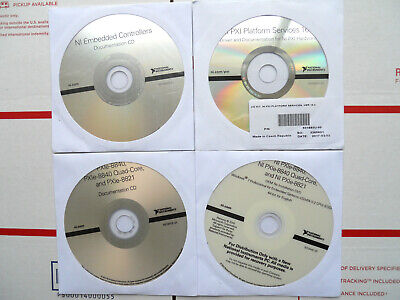 4 National Instruments Ni Pxie Embedded Controller Software Dvds For One Bid