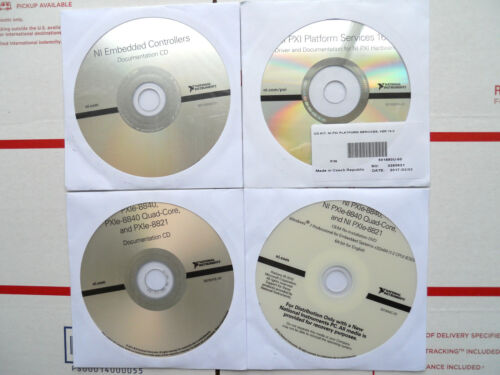(4) National Instruments NI PXIe Embedded Controller SOFTWARE DVD