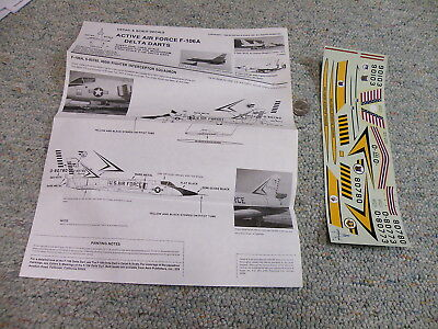 Detail and Scale  decals 1/48 Active Air Force F-106A Delta Darts     P2 for sale  Belmar