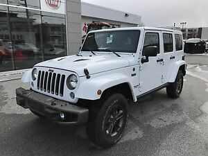 2017 Jeep Wrangler Unlimited, 2 TOITS, NAVI, 75th Anniversary