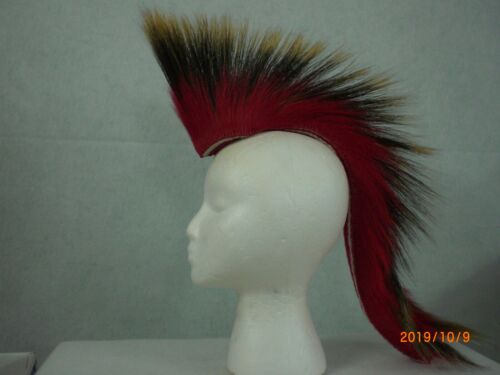 Porcupine Roach, Red, 18 inch in & Out, Red with White Striped Yarn Base