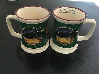 The Polar Express Believe 3D Mugs Christmas Hot Chocolate Mugs Set of 2
