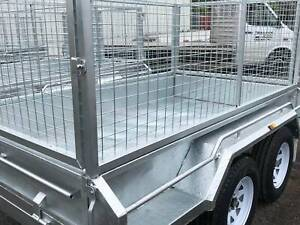 Heavy Duty 10 x 6 Galvanized Trailer 2.0 GVM with 900 High Cage Wauchope Port Macquarie City Preview