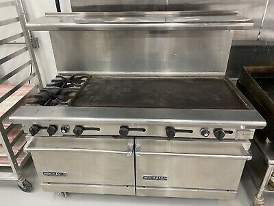 American Range Ar-60g-2b 2 Burners 48 Griddle 2 Ovens Great Condition