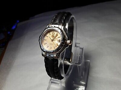 Tag heuer 6000 Professional WH1353 Quartz Wristwatch Ladies 18K Gold plated Y349, used for sale  Shipping to South Africa