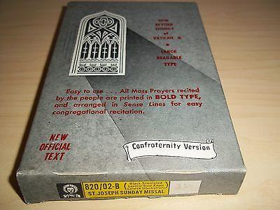 Vintage St. Joseph Sunday Missal And Hymnal - Catholic Book - 1966 - Mint