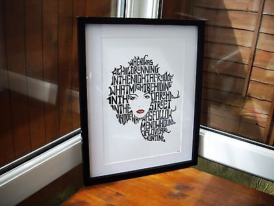 Kate Bush/Hounds Of Love A3 size typography art print/poster