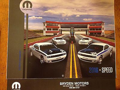 2016 Mopar Speed Calendar  Dodge  Hemi