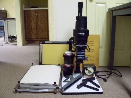 Vintage Photographic Darkroom Equipment, Enlarger, Dryer, Timer, Tanks, GUC