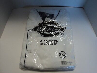 Dickies Executive Chef Coat Dcp103 Double Breasted White Size 4xl
