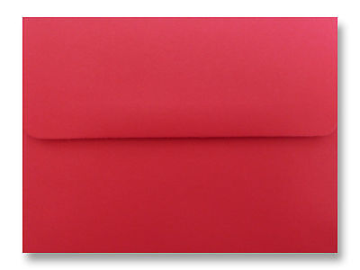 25-100 A7 ENVELOPEs for 5X7 Cards Invitations Announcements Holiday Red & (Holiday Invitations)