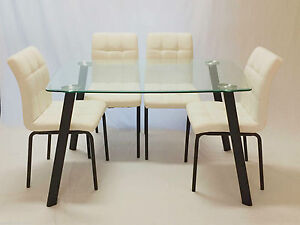 Glass Table with 4 Chairs,Jolly Dining Sets Punchbowl Canterbury Area Preview