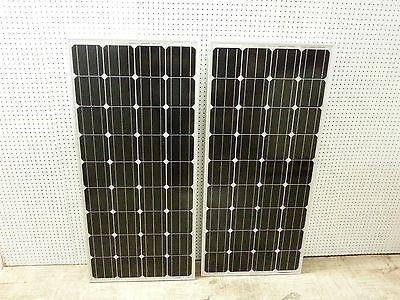 2  165  Watt 12 Volt Battery Charger Solar Panel Off Grid Rv Boat 330 Watt Total