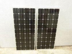 2- 175  Watt 12 Volt Battery Charger Solar Panel Off Grid RV Boat 350 watt total