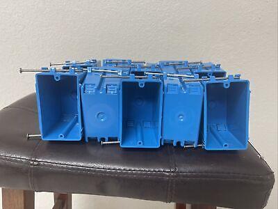 Carlon B122a-upc Switchoutlet Box New Work 1 Gang Blue