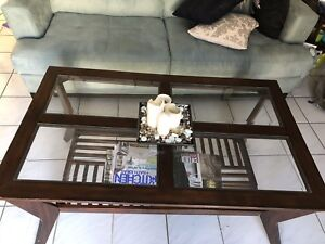 Beautiful Solid Wood/Glass Table