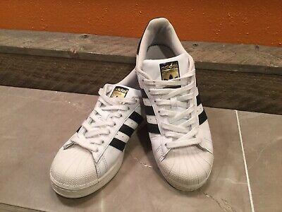 Adidas Superstar La Marque Aux 3 Bandes White Black Gold Men's SZ 8.5