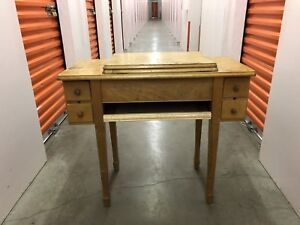 Wood working station for sewing machine