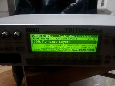 Korg triton rack sound module keyboard 220~240v worldwide shipping, used for sale  Shipping to India