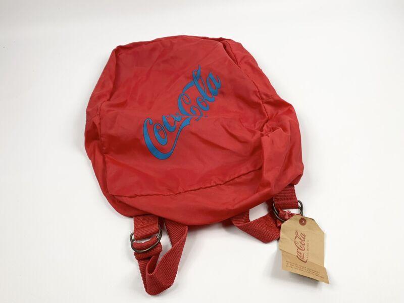 """Vintage Coca Cola Backpack Bookbag Bag Red Blue 15""""x11"""""""