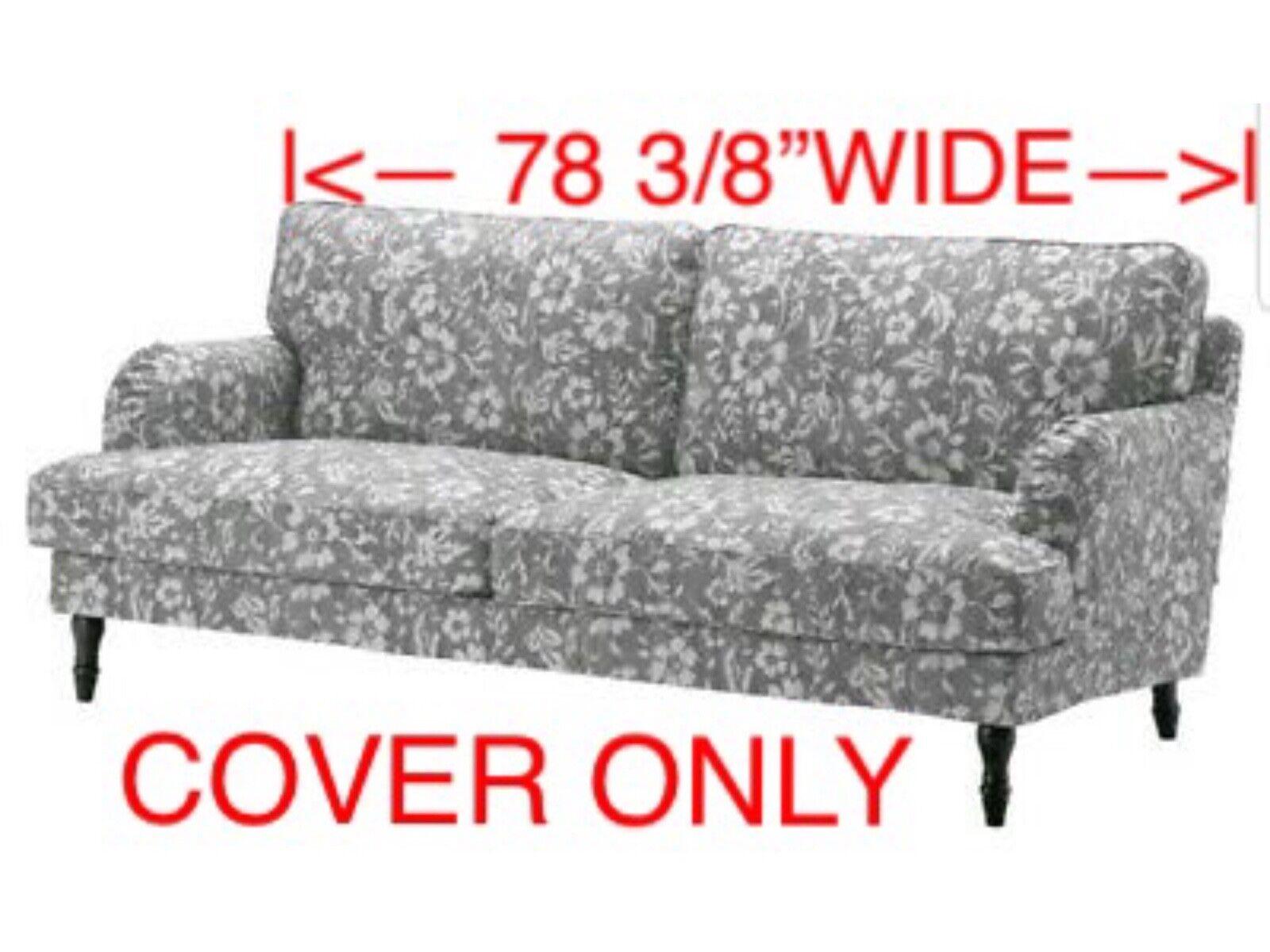 Ikea Stocksund COVER SLIPCOVER FOR 3 Seat Sofa Hovsten Gray