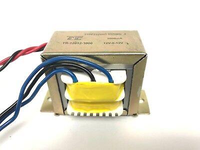 12v Transformer 12v-0-12v Ct 3amp 3000ma 110220v To 12vac 24vac True Amp