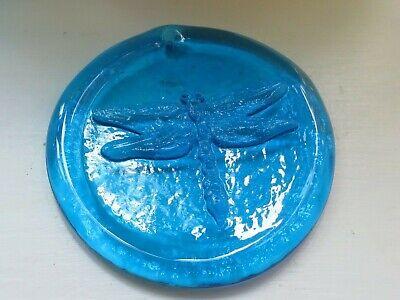 Blenko Suncatcher- dragonfly design in turquoise