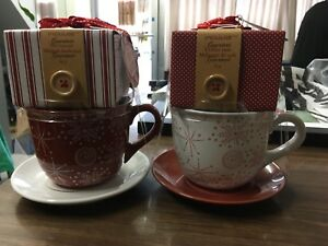 Brand new Christmas cup with hot Chocolate and coffee