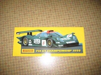 Alter Aufkleber - Sticker  Michael Bartels/Armin Hahne Porsche 911 GT1 ca.16x7cm