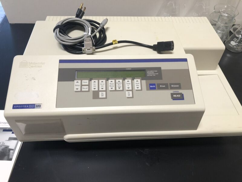 spectramax 190 microplate spectrophotometer with manual