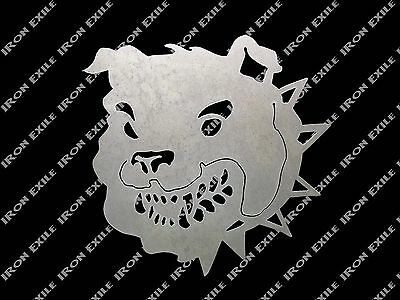 English Bulldog Head Metal Art Wall Sign Military Man Cave Bull Dog