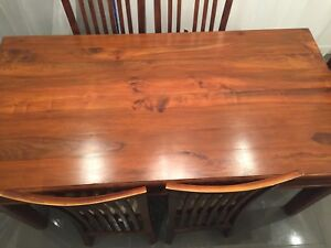 Solid Timber Dining and chairs