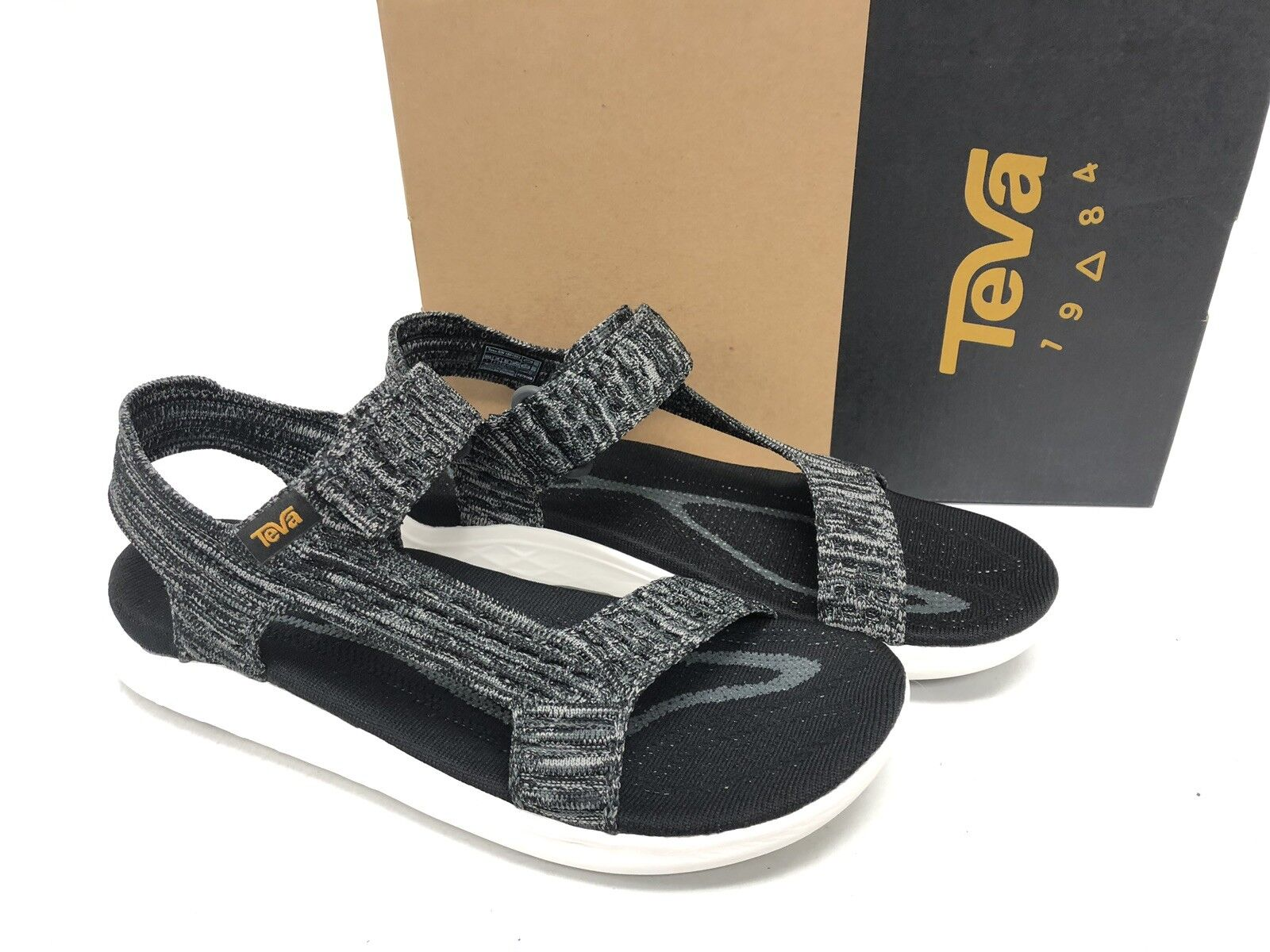 TEVA BLACK TERRA FLOAT 2 KNIT UNIVERSAL STRAPPY SANDALS Men's Shoes 1091592