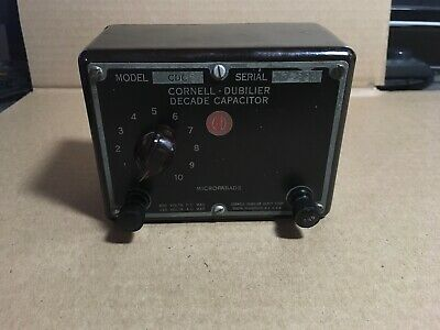 Vintage Cornell Dubilier Decade Capacitor Cdc