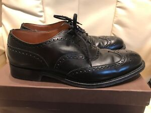 CHURCH CHETWYND MENS BLACK BROGUES, SIZE 9, F FIT. LIGHTLY WORN. EX CONDITION.