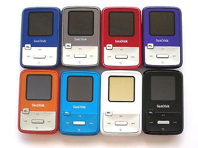 4 Gb Mp3 Sansa Clip (SanDisk Sansa Clip Zip 4GB SDMX22 FM MP3 Player Color Choose)