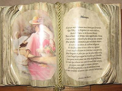 *NEW* Cadre Livre MAMAN H.20cm L.30cm Ghislain Van Houtte
