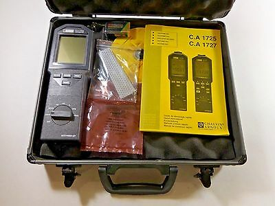 Chauvin Arnoux C.a 1725 1727 Tachometer W Carry Case Accessories New